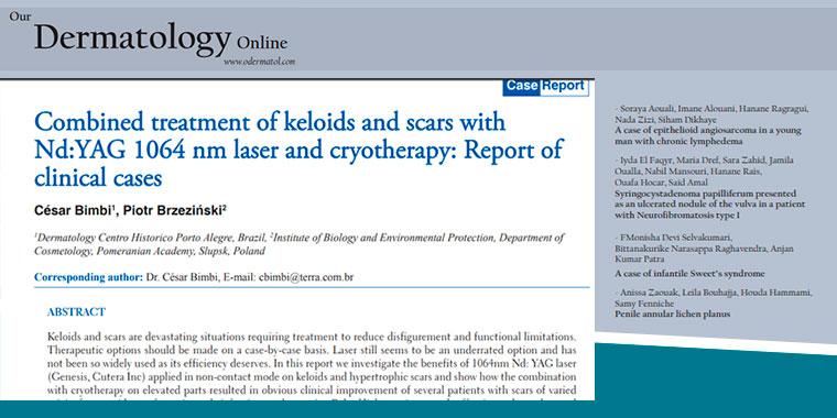 Dr. César tem artigo sobre tratamentos a laser publicado em Revista Dermatológica on-line internacional